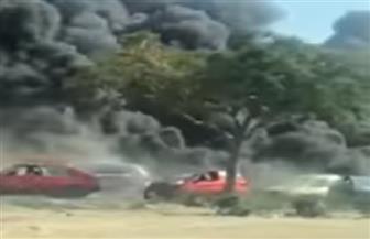 وزير البترول ومحافظ القاهرة يشرفان على إطفاء حريق طريق الإسماعيلية الصحراوي