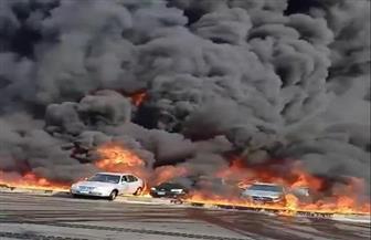 البترول تكشف أسباب حريق خط المازوت بطريق مصر الإسماعيلية الصحراوي | فيديو