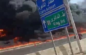 تفحم 31 سيارة خاصة في حريق الإسماعيلية الصحراوي