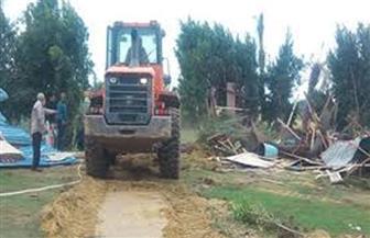 إزالة تعديات على 4 آلاف متر من أملاك الدولة في البحيرة