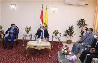 محافظ شمال سيناء يستقبل رئيس الاتحاد المصري للميني فوتبول | صور