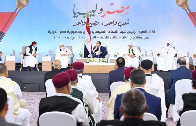 الرئيس السيسي مستعدون لتدريب الشباب الليبي لبناء جيش وطني