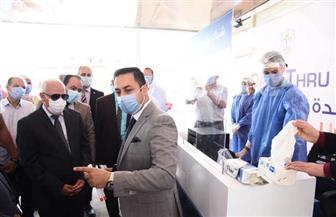 محافظ بورسعيد يفتتح أحدث وحدة لتحاليل فيروس كورونا | صور