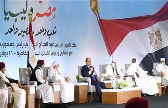 الرئيس السيسي: لن نقف مكتوفي الأيدي في مواجهة أية تهديدات للأمن القومي المصري والليبي والعربي والإقليمي