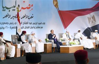 الرئيس السيسي لشيوخ القبائل الليبية: سوف ننصركم