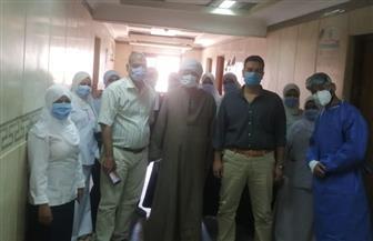 خروج 5 حالات من مستشفى الأقصر العام بعد تعافيهم من كورونا | صور