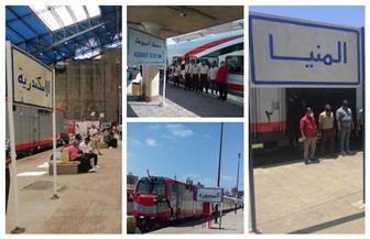 وزير النقل يشهد الانطلاقة الجديدة لقطارات السكك الحديدية عالية المستوى | صور