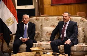 محافظ بورسعيد يترأس وفدا لتقديم التهنئة لمدير الأمن الجديد| صور