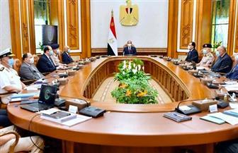 خلال اجتماع مجلس الدفاع الوطني.. الرئيس السيسي يطلع على مستجدات ملف سد النهضة والأوضاع فى ليبيا