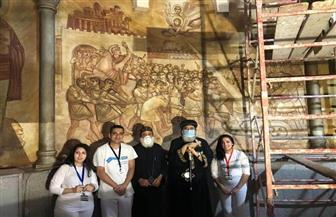 البابا تواضروس يتفقد مزار القديس مارمرقس بالكاتدرائية   صور