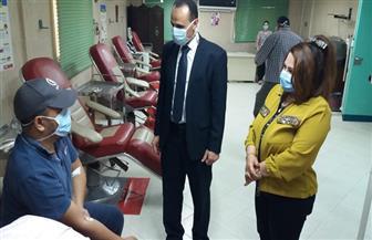 وكيل صحة سوهاج يتفقد قسم العزل بالمستشفى التعليمي ويتابع عمليات التبرع بالبلازما | صور