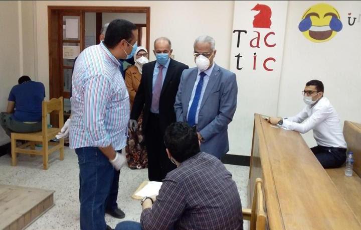 امتحانات الدفعة الثانية من طلاب الصفوف النهائية بجامعة بورسعيد