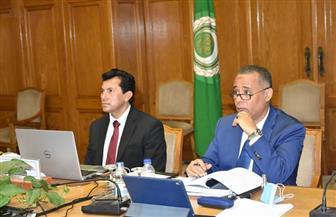 «صبحي» يترأس اجتماع تنفيذي مجلس وزراء الشباب والرياضة العرب عبر الفيديو كونفرانس |صور