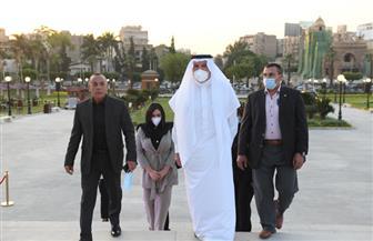 سفير السعودية في مصر يلبي دعوة وزير السياحة لزيارة قصر البارون   صور