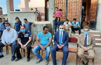 محافظ الغربية ونائبه يقدمان العزاء لأسرة شهيد سيناء بمسقط رأسه