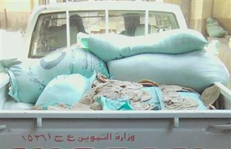 ضبط 500 كجم دقيق مدعم وألف رغيف بلدي قبل بيعها بالسوق السوداء في قطور| صور