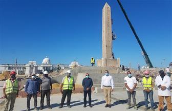 وزير السياحة والآثار يتفقد مسلة الملك رمسيس الثاني بالعلمين الجديدة | صور