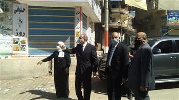 محافظ كفر الشيخ يقرر غلق مقهى ومحل لوجود مخالفات بهما | صور