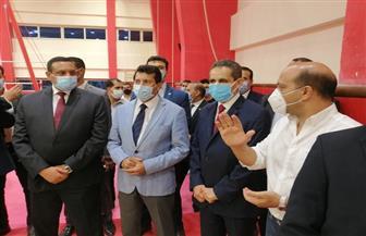 وزير الرياضة يشيد بمعسكر منتخب الجمباز بالمركز الأوليمبي| صور
