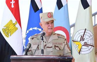 الفريق محمد فريد يشهد إجراءات الاصطفاف والاستعداد القتالي لعناصر القوات المسلحة