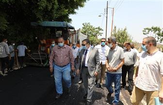 محافظ المنوفية يتفقد أعمال رصف طريق كفر سنجلف بالباجور   صور