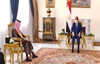 تفاصيل لقاء الرئيس السيسي بوزير الخارجية السعودي