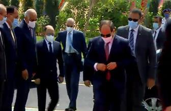 الرئيس السيسي يصل مقر افتتاح المدينة الصناعية بالروبيكي