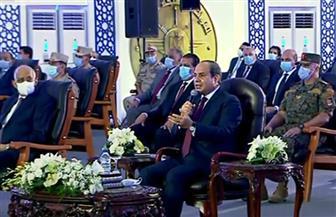 الرئيس السيسي: لدينا خطة طموح تتعلق بصناعة الغزل والنسيج