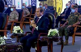 الرئيس السيسي: نخوض معركة تفاوض في قضية سد النهضة حول قواعد الملء والتشغيل