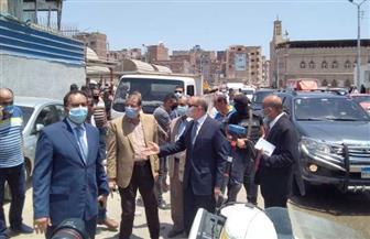 محافظ كفر الشيخ يتفقد موقف السرفيس الجديد بشرق المدينة | صور