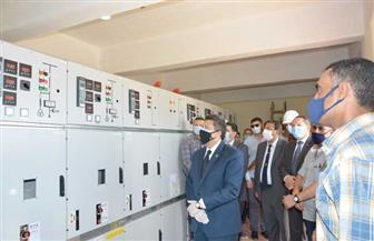 إطلاق إشارة البدء لخط الكهرباء الدائمة لحرم جامعة دمياط الجديدة | صور