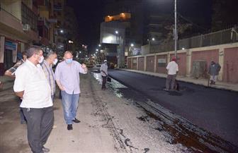 محافظ أسيوط يتفقد أعمال رصف امتداد شارع يسري راغب بحى غرب | صور