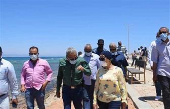 نائبة محافظ البحر الأحمر تتابع المراحل النهائية لكورنيش مدينة رأس غارب | صور