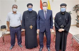 محافظ شمال سيناء يستقبل ممثلي الكنيسة للتهنئة بعيد الأضحى المبارك |صور