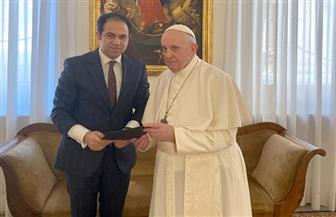 البابا فرنسيس يستقبل المستشار محمد عبدالسلام الأمين العام للجنة العليا للأخوة الإنسانية|صور