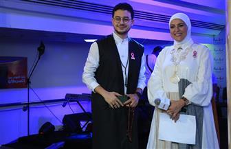 مصطفى عاطف ودعاء فاروق يحتفلان بمحاربات سرطان الثدي