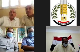 زراعة دمياط تعقد غرفة عمليات حماية الأراضي الزراعية عبر تقنية الفيديو كونفرانس | صور