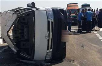 إصابة 28 مواطنا في انقلاب سيارة ميكروباص بصحراوي قنا
