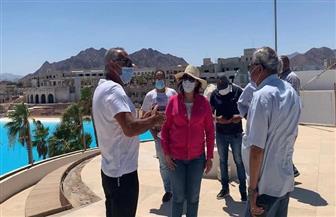"""زيارة تفقدية لمشروعات """"التنمية السياحية"""" في شرم الشيخ ونبق صور"""