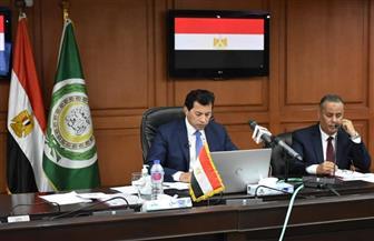 أشرف صبحي يشهد افتتاح اجتماع مجلس وزراء الشباب والرياضة العرب بالفيديو كونفرانس