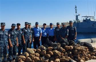 القوات البحرية تنجح فى ضبط كمية كبيرة من المواد المخدرة بنطاق الأسطول الجنوبى