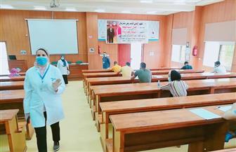 طلاب معهد تمريض شربين يؤدون امتحانات نهاية العام وسط إجراءات احترازية