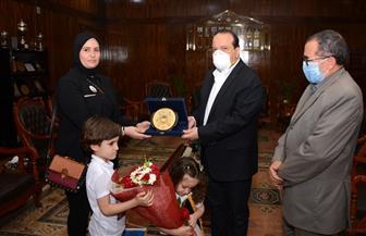 رئيس جامعة طنطا يكرم أسرة الشهيد البطل العقيد محمد إبراهيم ابن المحلة الكبرى | صور