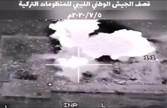 لحظة استهداف طائرات حربية منظومة دفاع تركية في ليبيا| فيديو