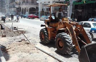 محافظ بورسعيد يطلق أعمال المرحلة الثانية لتطوير محور «الثلاثيني» | صور