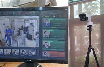 كاميرات حرارية عالية الدقة لقياس درجة حرارة المترددين على البرلمان | صور