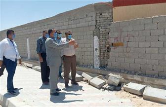 محافظ شمال سيناء يتفقد أعمال تطوير ميادين مدينة العريش | صور