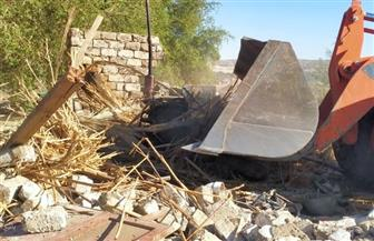 إزالة التعدي على 13 فدانا داخل مزرعة صرف صحي بسوهاج|صور