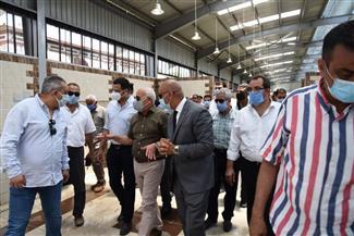 محافظ بورسعيد: يشهد التشطيبات النهائية بسوق بورفؤاد الجديد قبل افتتاحه رسميا | صور