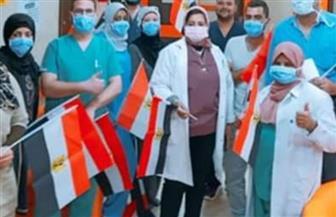 خروج 13 حالة تعافي من «كورونا» بمستشفى العزل بإسنا جنوب الأقصر | صور